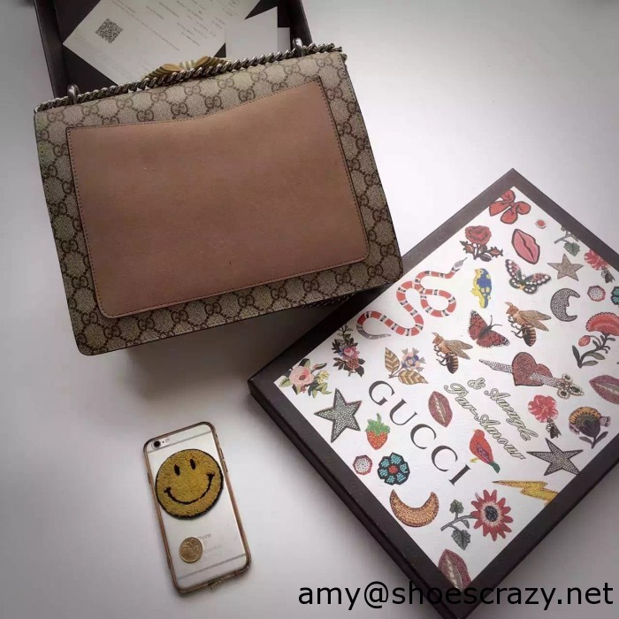 IMG 9588 700x700 - Gucci Bee and Flowers Embroidered Dionysus GG Supreme Medium Bag 400235 2016