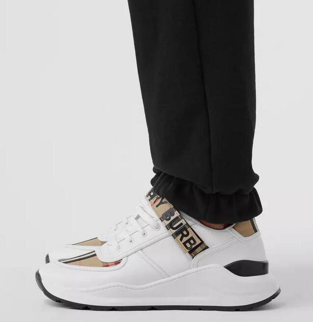 QQ截图20200720170334 - Burberry Logo Detail Leather Sneakers 2020
